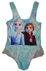 Disney Dívčí tyrkysové jednodílné plavky se sukýnkou Frozen s Elsou a Annou., 140