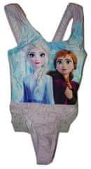 Disney Dívčí růžové jednodílné plavky se sukýnkou Frozen s Elsou a Annou., 128