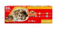 Propesko vrecko mačka kura + hovädzie + králik + losos 24 x 100 g