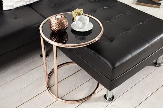 shumee INVICTA miza ART DECO baker - kovina, steklo