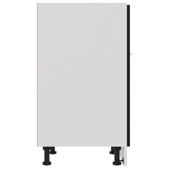 shumee omara za predale Črna 60x46x81,5 cm iverna plošča