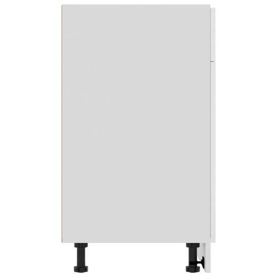 shumee omara s predalom Visoko sijajna bela iverna plošča 80x46x81,5 cm