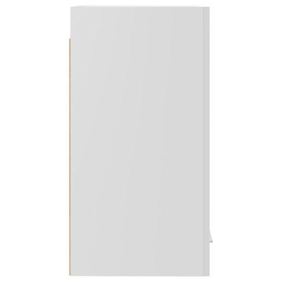 shumee Stenska omara Visoko sijajna bela 29,5x31x60 cm deska