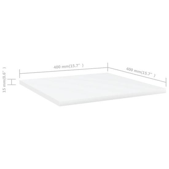 shumee Dodatne police za omaro 4 kosi bele 40x40x1,5 cm iverna plošča