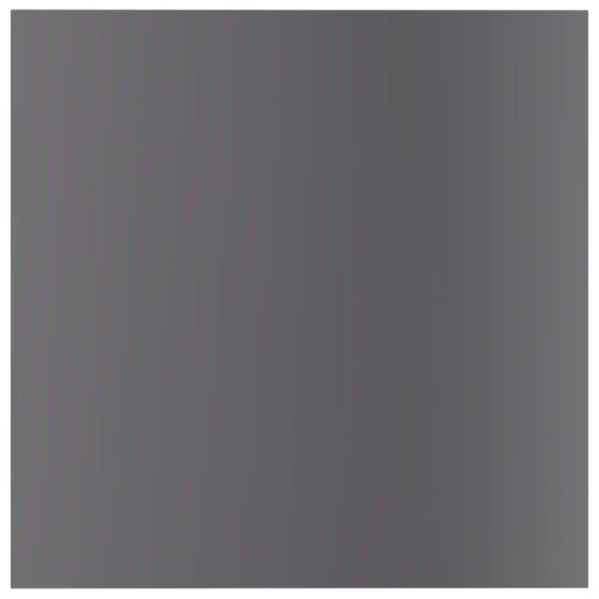 shumee Prídavné police 4 ks, lesklé sivé 40x40x1,5 cm, drevotrieska
