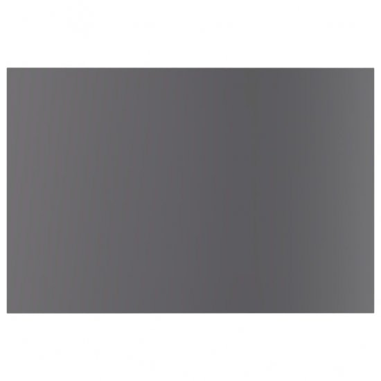 shumee Półki na książki, 8 szt., wysoki połysk, szare, 60x40x1,5 cm