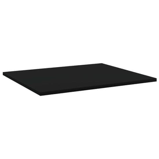 shumee Półki na książki, 4 szt., czarne, 60x50x1,5 cm, płyta wiórowa