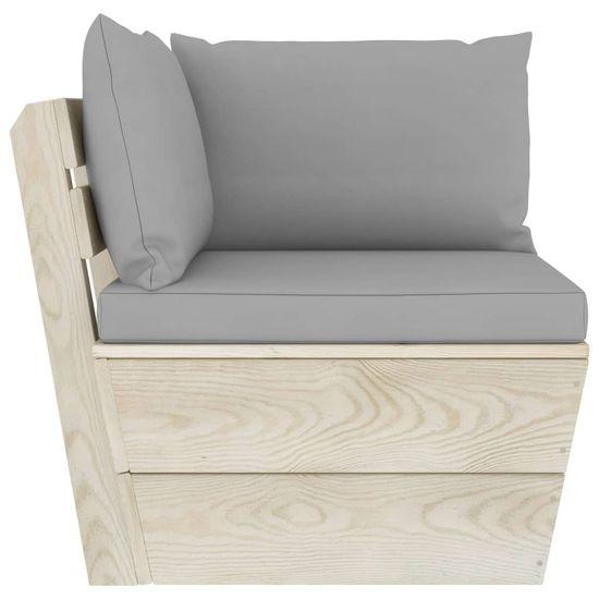 shumee 5-cz. zestaw wypoczynkowy z palet, z poduszkami, świerk