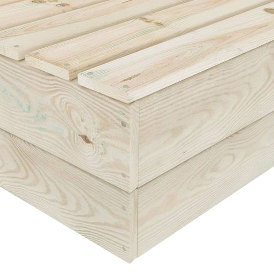 Greatstore 9-dielna záhradná súprava z paliet s podložkami smrekové drevo