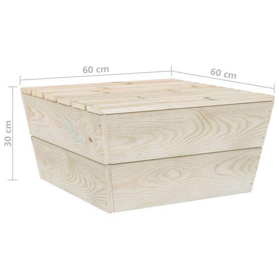 Greatstore 6-dielna záhradná súprava z paliet+podložky, smrekové drevo