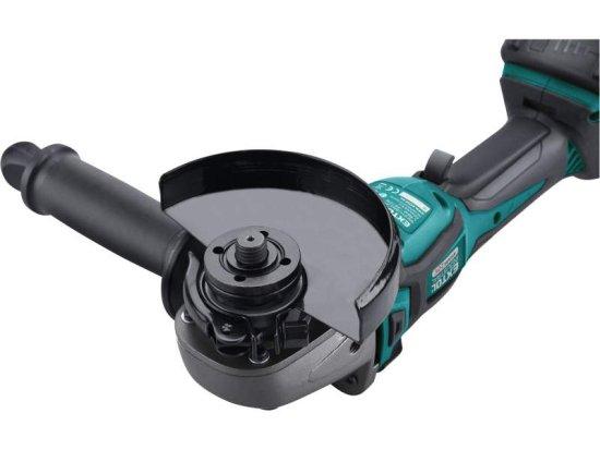 Extol Industrial Brúska uhlová akumulátorová Share 20V, 125mm, bezuhlíkový motor, 1x 2Ah Li-ion, 2,4A nabíjačka, M14
