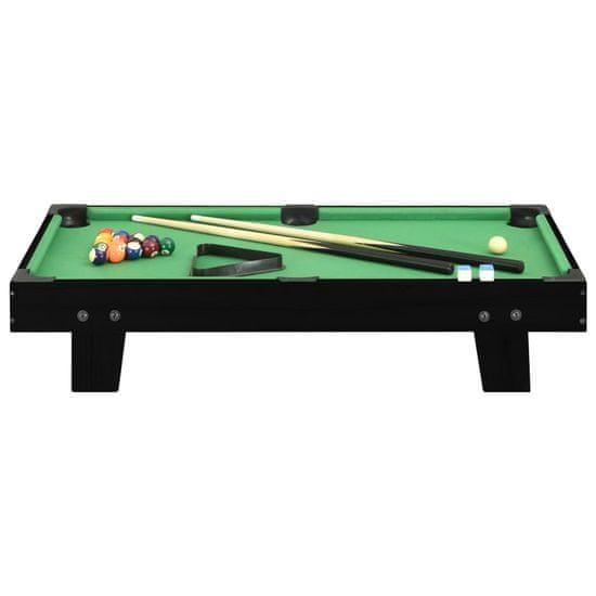 shumee Mini stół bilardowy na 3 nogach, 92x52x19 cm, czarno-zielony
