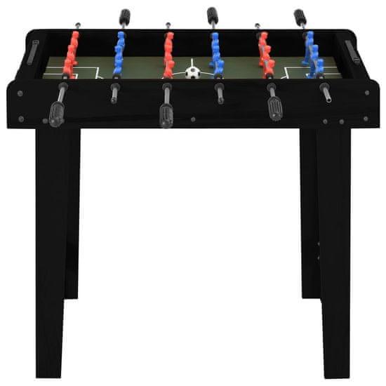 shumee Mini stół do gry w piłkarzyki, 69 x 37 x 62 cm, czarny