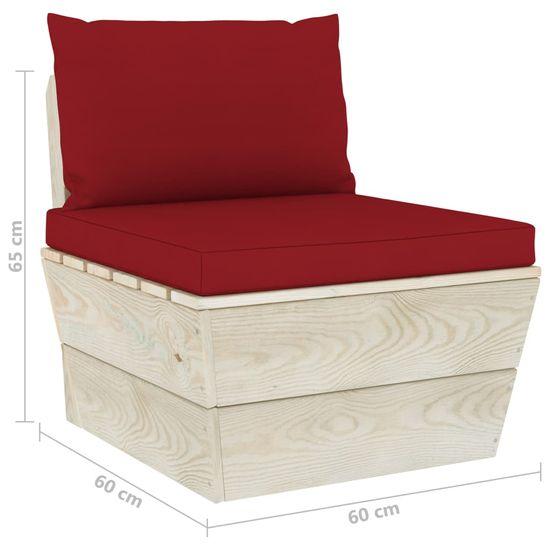 shumee 3 ks sedacia súprava vyrobená z paliet, s vankúšmi, smrek
