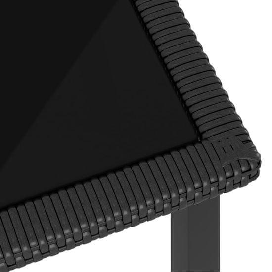 shumee 9 részes fekete polyrattan kerti étkezőgarnitúra