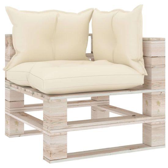 shumee 6-cz. zestaw mebli ogrodowych z palet, z poduszkami, sosna