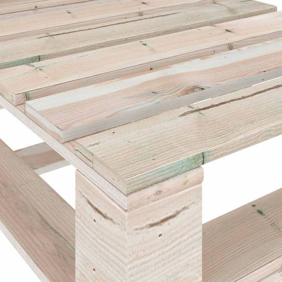 shumee 6 részes fenyőfa kerti raklap-bútorgarnitúra párnákkal