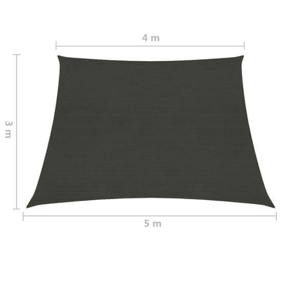 shumee Sun Sail 160 g / m² antracit 4 / 5x3 m HDPE