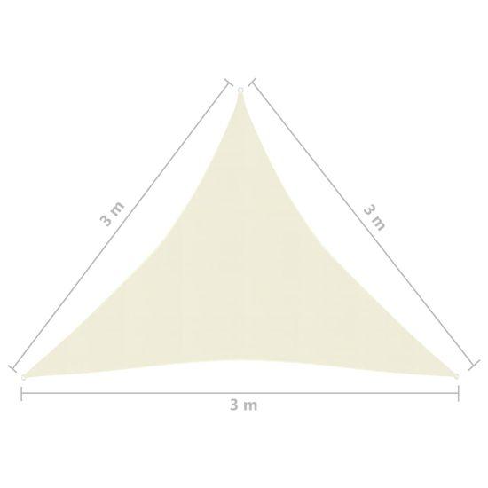 shumee Sun Sail 160 g / m² krema 3x3x3 m HDPE