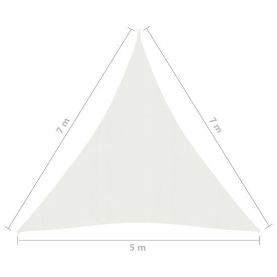 shumee Senčno jadro 160 g/m² belo 5x7x7 m HDPE