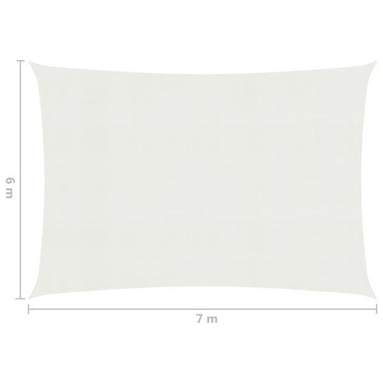 shumee Sun Sail 160 g / m² bela 6x7 m HDPE