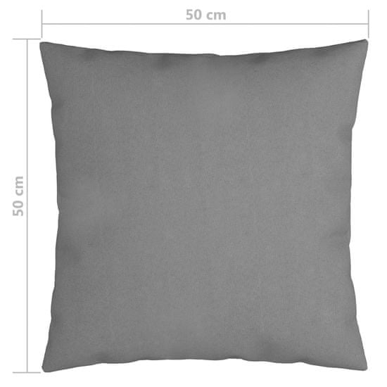 shumee Dekoratívne vankúše 4 ks, sivé 50x50 cm, látka
