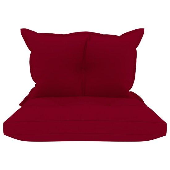 shumee Podložky na paletovú sedačku 2 ks, vínovo červené, látka