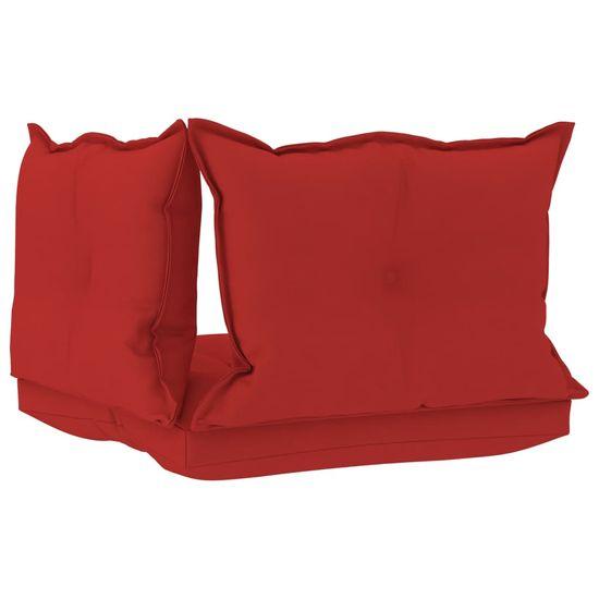 shumee 3 db piros szövet raklapkanapé-párna