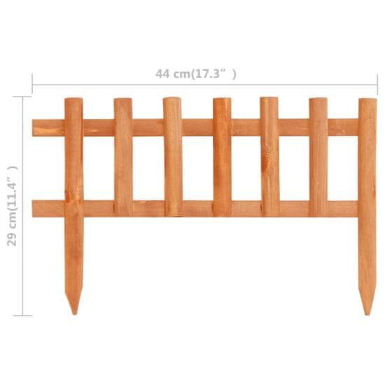 shumee Obrzeża trawnikowe, 10 szt., drewno jodłowe, 4,4 m