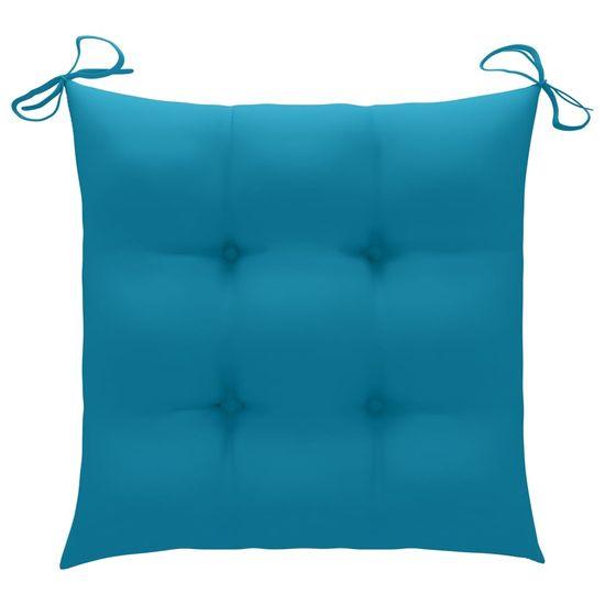 Greatstore Podložky na stoličku 2 ks, modré 50x50x7 cm, látka