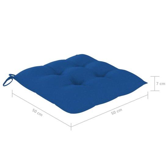 shumee Blazine za stole 2 kosa svetlo modre 50x50x7 cm blago