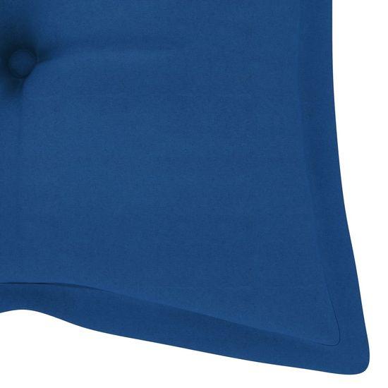 shumee Poduszka na ławkę ogrodową, jasnoniebieska, 120x50x7cm, tkanina