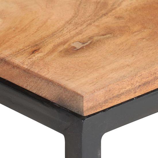 shumee drsne stranske mize 2 kosa masivnega akacijevega lesa