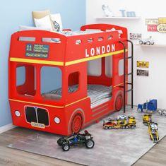 shumee Poschodová posteľ s motívom londýnskeho autobusu MDF 90x200 cm