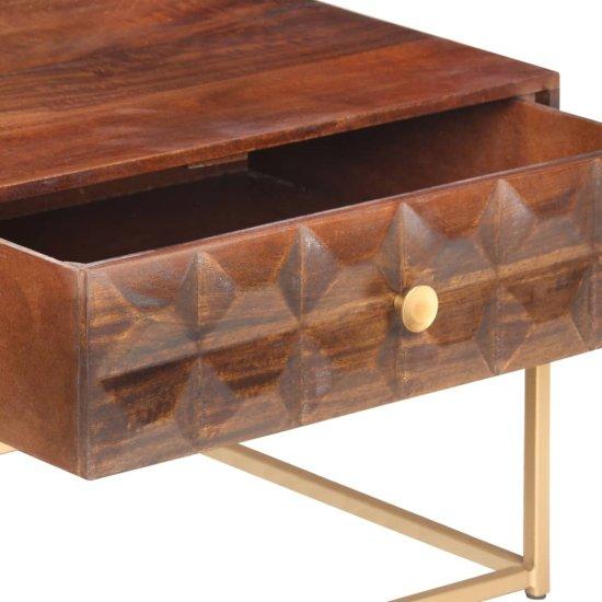 shumee kavna miza 112x50x40 cm Masivni les iz manga