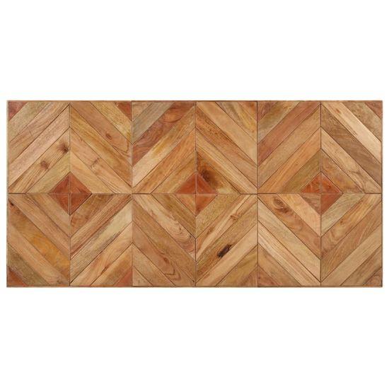 shumee Stół jadalniany, 140x70x76 cm, lite drewno akacjowe i mango