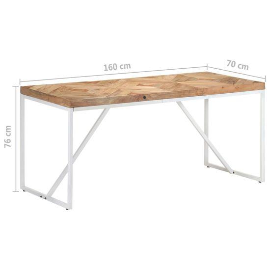 shumee Jedálenský stôl 160x70x76 cm akáciový a mangovníkový masív