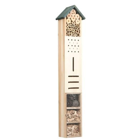 shumee Hotel pre hmyz 15x11x150 cm jedľové drevo