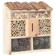 shumee Hotel pre hmyz 30x10x30 cm jedľové drevo