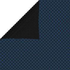 shumee Plavajoča PE solarna folija za bazen 549x274 cm črna in modra