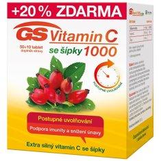 GreenSwan GS Vitamin C1000 + šípky 50 + 10 tablet