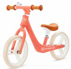 KinderKraft Balance bike FLY PLUS, coral