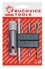Bučovice Tools a.s. Závitové bity M3 - M10 HSS se závitníkovou ráčnou, sada 7 ks - Bučovice Tools
