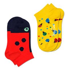Happy Socks 2pack dievčenské ponožky Ladybug Low Sock 22 - 24 viacfarebná