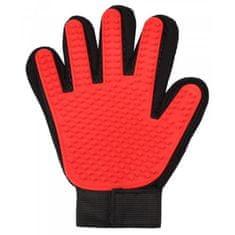 Merco rokavica za odstranjevanje dlak, gumijasta, rdeča