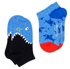 Happy Socks fantovske nogavice Shark Low Sock, 22 - 24, modre