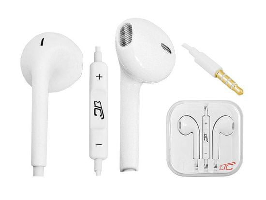 LTC Slušalke ušesne 3,5mm bele v škatlici 1,2m
