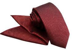 ORSI Slovakia Bordová-zlatá kravata s vreckovkou