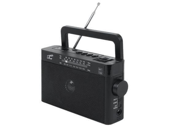 LTC Prenosni radio LTC z Bluetoothom, USB, TF, črne barve