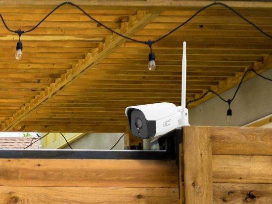 LTC Zunanja IP kamera, bela LTC, WiFi, 2.0MP IP66 MicroSD-128GB